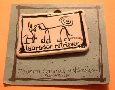Labrador Lab Retriever Cavern Canine Dog Breed Stoneware Ceramic Clay Jewelry Pin McCartney - NEW