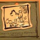 Shar Pei Cavern Canine Dog Breed Stoneware Ceramic Clay Jewelry Pin McCartney - NEW