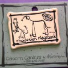 Rodesian Ridgeback Cavern Canine Dog Breed Stoneware Ceramic Clay Jewelry Pin McCartney - NEW
