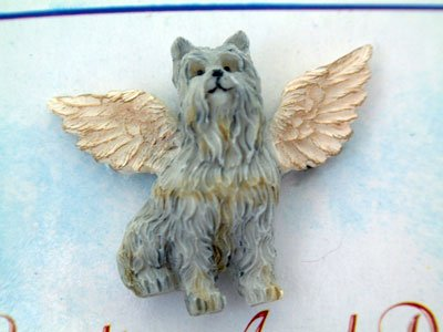 Schnauzer Guardian Angel Dog Pin - Ganz