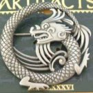 Dragon Round Fantasy JJ Jonette Jewelry Lapel Pin