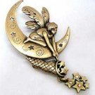 Star Catching Moon Fairy Fantasy JJ Jonette Jewelry Lapel Pin