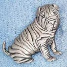 Shar Pei Dog JJ Jonette Jewelry Lapel Pin