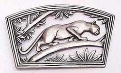 Panther Stalking Wild Cat JJ Jonette Jewelry Lapel Pin