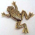 Frog Reptile JJ Jonette Jewelry Lapel Pin