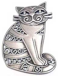 Funky Kitty Cat JJ Jonette Jewelry Lapel Pin