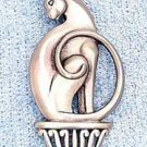 Cat on a Pedestal JJ Jonette Jewelry Lapel Pin