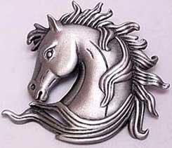 Elegant Horse Head Bust JJ Jonette Jewelry Lapel Pin