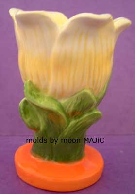 SILICONE MOLD TULIP Flower Pillar Candle Soap Resin Molds