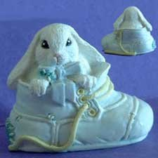 Shoe BUNNY BOY Rabbit SILICONE Candle Soap Resin MOLD