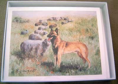 Belgian Malinois #1 Dog Notecards Envelopes Set - Maystead - NEW