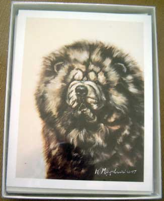 Chow #4 Dog Notecards Envelopes Set - Maystead - NEW
