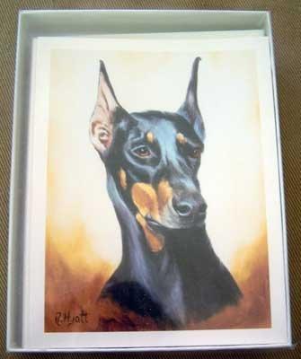 Doberman #3 Dog Notecards Envelopes Set - Maystead - NEW