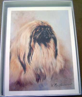 Pekingese #2 Dog Notecards Envelopes Set - Maystead - NEW