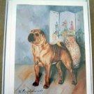 Shar Pei #2 Dog Notecards Envelopes Set - Maystead - NEW