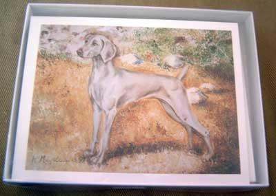 Weimaraner #2 Dog Notecards Envelopes Set - Maystead - NEW