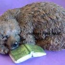 Bear Napping with Book SILICONE Candle Soap Resin Plaster Cement MOLD