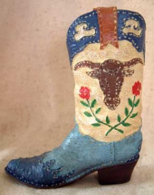 COWBOY BOOT (#1) Detailed! SILICONE Candle Soap Resin MOLD