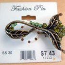 Green Stone Floral NWT Fashion Lapel Pin Jewelry