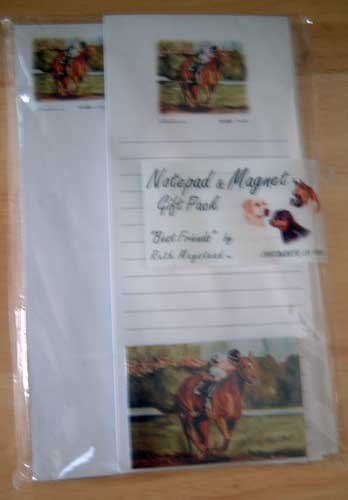 Horse Race Note/Magnet Gift Set (a) Maystead - NIP