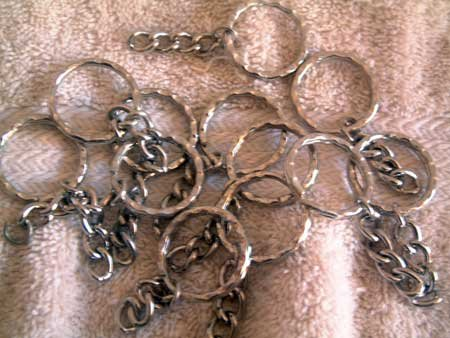 Heavy KEY CHAIN Lot of 12 Keychain Parts for Crafts