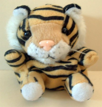 Tiger w/ Back Pack Key Chain Plush Displayed Only Condition