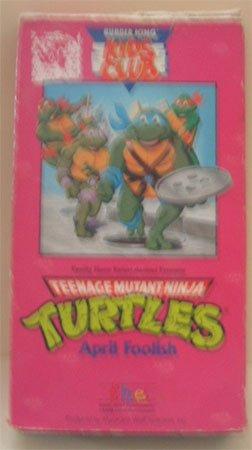 TMNT April Foolish Teenage Mutant Ninja Turtles VHS Movie Cartoon