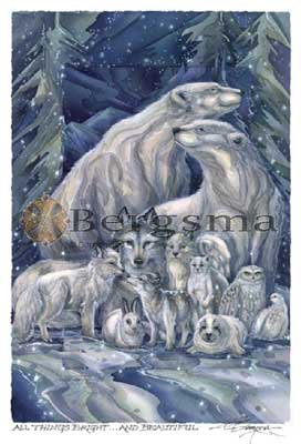 Jody BERGSMA Art Card Print : All Things Bright and Beautiful