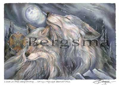 Jody BERGSMA Art Card Print : Love Is The Beginning of All Things Beautiful