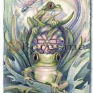 Jody BERGSMA Art Card Print : Don't Worry ... Be Hoppy!