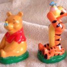Disney POOH & TIGGER Salt Pepper Shakers Vintage Mint