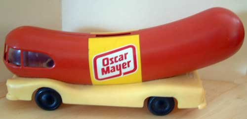 Weinermobile Oscar Mayer Weiner Promotion Vintage Bank