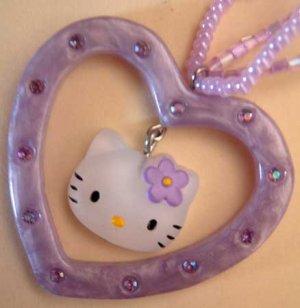 Hello Kitty Sanrio Lavender Heart Necklace NWT