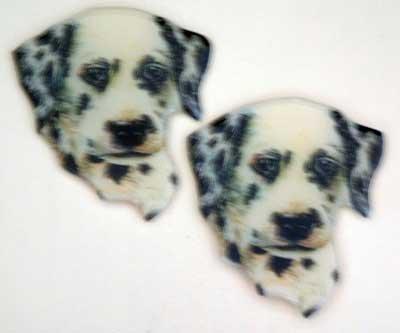 Dalmation Dog Puffy Soft Magnets Set of 2