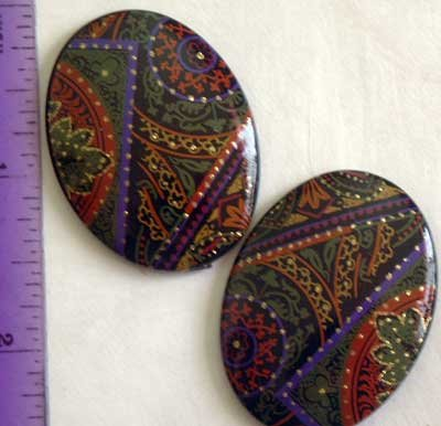 6- Sparkle Filled Crafting Flat Backs for Jewelry Altered Art Crafts and More!