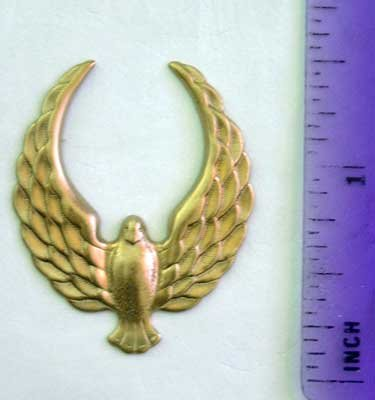 Dove Bird Raw Brass Jewelry Craft Altered Art Clay Mold Design