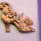 Victorian Shoe Rose Raw Brass Jewelry Craft Altered Art Clay Mold Design