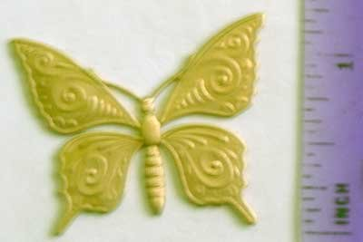 Butterfly #2 Raw Brass Jewelry Craft Altered Art Clay Mold Design