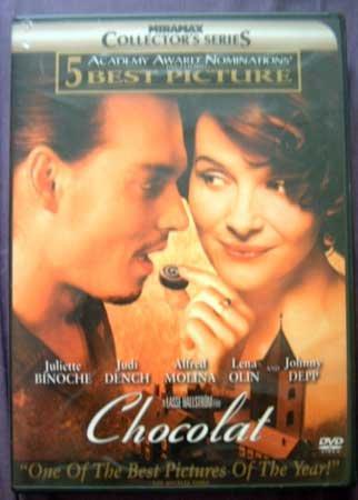DVD Movie CHOCOLAT Johnny Depp Fantasy Love Story
