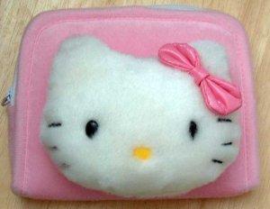 Hello Kitty Plush Coin Make-Up Clutch NEW 4X5