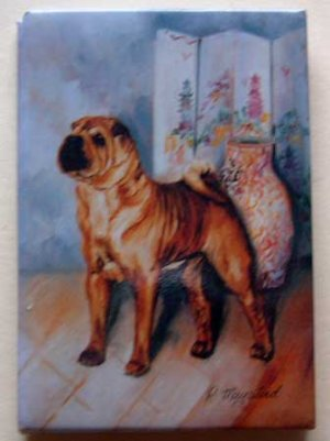 Dog Breed Full Backed Quality Magnet - Maystead - NEW SA2