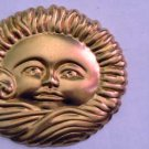 Sun Windy Clouds Raw Brass Jewelry Craft Altered Art Clay Mold Design