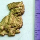 Dog Scruffy Terrier Raw Brass Jewelry Craft Altered Art Clay Mold Design