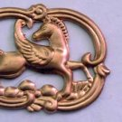 Pegasus Fantasy Flying Horse Raw Brass Jewelry Craft Altered Art Clay Mold Design