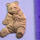 Panda Bear Raw Brass Jewelry Craft Altered Art Clay Mold Design