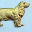 Spaniel Dog Raw Brass Jewelry Craft Altered Art Clay Mold Design