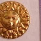 Sun Aztec Raw Brass Jewelry Craft Altered Art Clay Mold Design