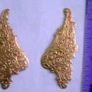 Wings Intricate Scrolled Pr/L/R Raw Brass Jewelry Craft Altered Art Clay Mold Design
