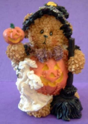 Witch Bear Ghost Pumpkin Halloween Decor Sparkly!