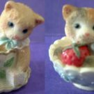 Calico Kittens Sugar Bowl and Tea Cup Cats Pair